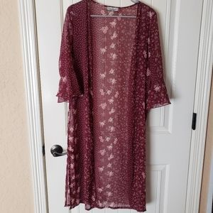 Crave Fame By Almost Famous floral sheer cardigan